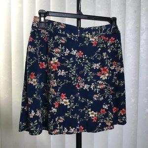 XHILARATION Floral Skirt   Mini   Navy   Large